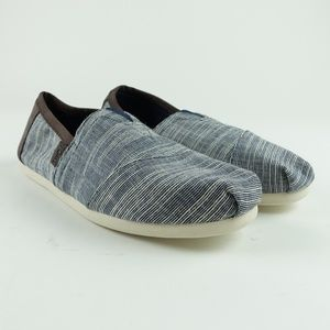 e7db8d6b071 TOMS Men Navy Microstripe Alpargata Slip On R3S5